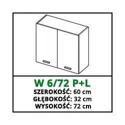 SZAFKA WISZĄCA - W 6/72 P+L - CUBA LIBRE