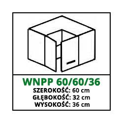 SZAFKA WISZĄCA - WNPP 60/60/36 - CUBA LIBRE