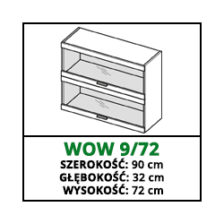 SZAFKA WISZĄCA - WOW 9/72 - CUBA LIBRE