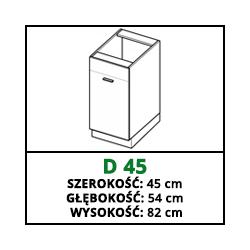 SZAFKA STOJĄCA - D 45 - CAMPARI