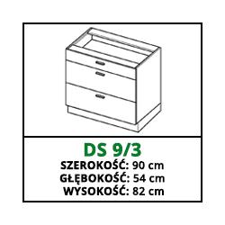 SZAFKA STOJĄCA - DS 9/3 - CAMPARI