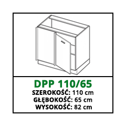 SZAFKA STOJĄCA - DPP 110/65 - CAMPARI