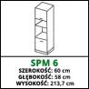 SZAFKA DO ZABUDOWY PIEKARNIKA I MIKROFALI - SPM 6 - CAMPARI