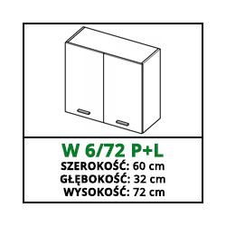 SZAFKA WISZĄCA - W 6/72 P+L - CAMPARI
