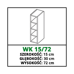 SZAFKA WISZĄCA -WK 15/72 - VELLA