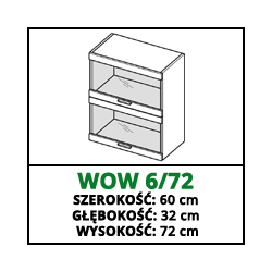 SZAFKA WISZĄCA - WOW 6/72 - VELLA